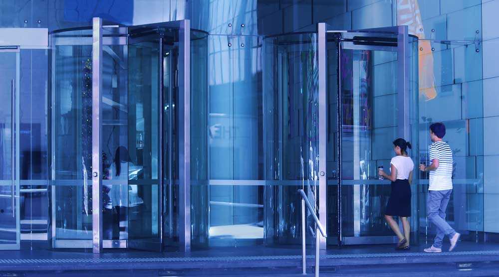 Glass revolving doors Ireland